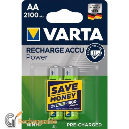 AA 2100MAH NIMH 2-BL ready2use Varta