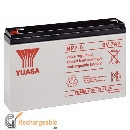 Yuasa NP7-6 Battery (Faston 4.8mm)