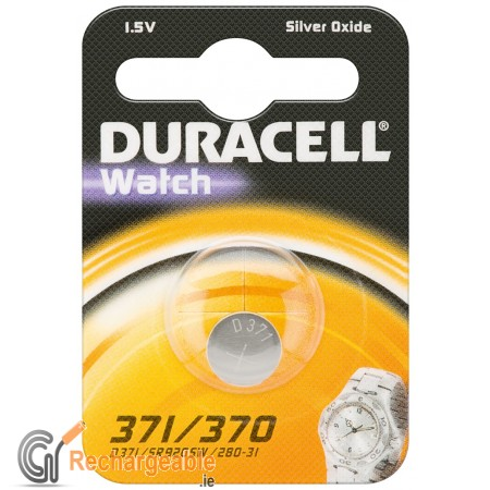 Duracell Watch Silver Oxide-Zinc Button Cell - SR69 (371/370)