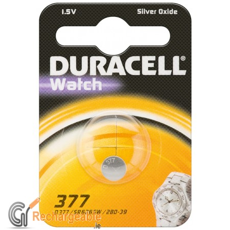 Duracell Watch Silver Oxide-Zinc Button Cell - SR66 (377)