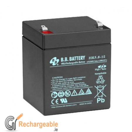 buy online sealed lead acid battery 12v 5 8ah in ireland. Black Bedroom Furniture Sets. Home Design Ideas