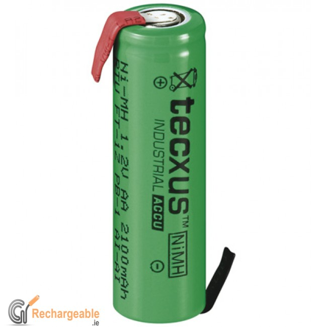 Buy Online Aa Rechargeable Battery With With Solder Tags