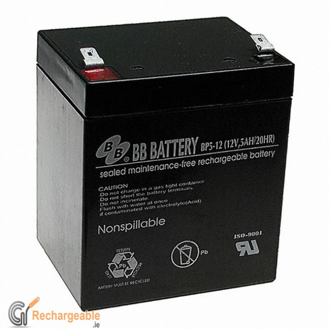 buy online sealed lead acid battery 12v 5ah in ireland. Black Bedroom Furniture Sets. Home Design Ideas