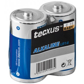 tecxus Baby (C) Alkaline Battery 2 Pack