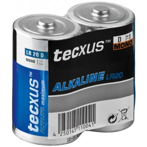 tecxus Baby (D) Alkaline Battery 2 Pack