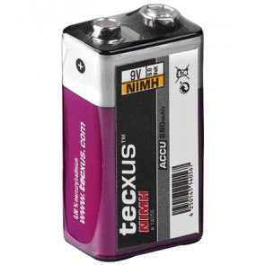 tecxus Rechargable 9V Block