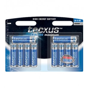 tecxus 8+2 AA Alkaline Batteries Valua Pack