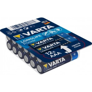 Varta Longlife Power LR6/AAA - 12 x AAA Batteries