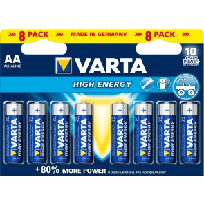 Varta High Energy LR6/AA - 8 x AA Batteries