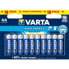 Varta High Energy LR6/AA - 10 x AA Batteries