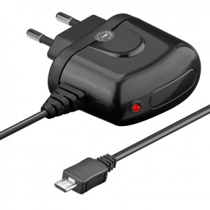 Travel Charger (100-240V AC) with Micro-USB connector