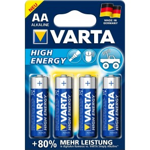 Varta High Energy LR6/AA - 4 x AA Batteries