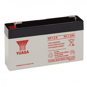 Yuasa NP1.2-6 Battery (Faston 187 - 4.8mm)