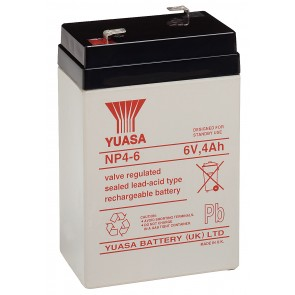 Yuasa NP4-6 Battery (Faston 4.8mm)