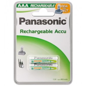 Panasonic 2 x DECT Phone Battery - AAA - 800 mAh