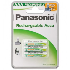 Panasonic 3 x DECT Phone Battery - AAA - 800 mAh